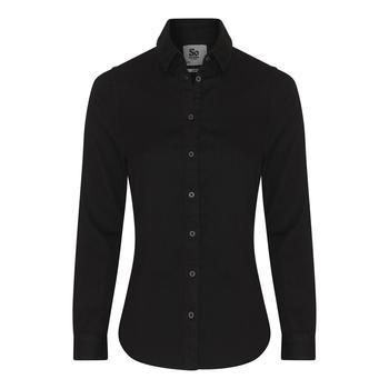 商品AWDis So Denim Womens/Ladies Lucy Denim Shirt (Black)图片