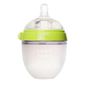 商品婴儿宽口硅胶妈妈奶瓶 绿色 150ml图片