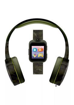 商品PlayZoom 2 Interactive Educational Kids Smartwatch with Headphones: Green Camouflage Print图片