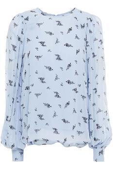 商品Floral-print georgette blouse图片