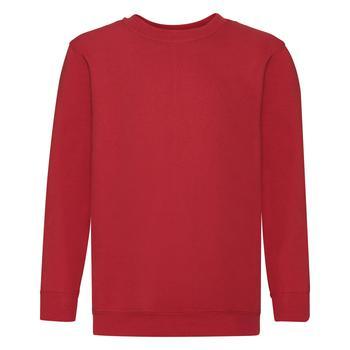 商品Fruit Of The Loom Childrens Big Boys Set in Sleeve Sweatshirt (Pack of 2) (Red)图片