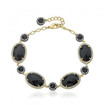商品Riccova 14K Gold-Plated Blue Sand Stone Bracelet图片